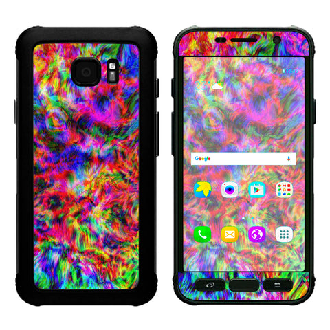 Tye Dye Fibers Felt Tie Die Colorful Samsung Galaxy S7 Active Skin