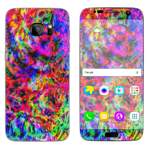 Tye Dye Fibers Felt Tie Die Colorful Samsung Galaxy S7 Edge Skin