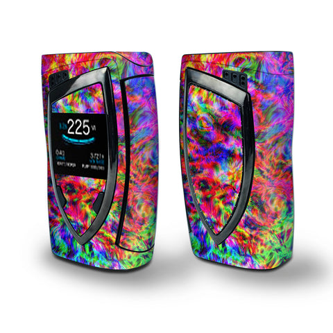 Skin Decal Vinyl Wrap for Smok Devilkin Kit 225w Vape (includes TFV12 Prince Tank Skins) skins cover / tye dye fibers felt tie die colorful