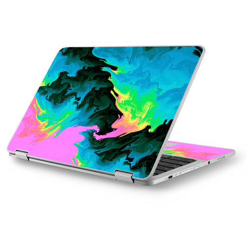 "Water Colors Trippy Abstract Pastel Preppy Asus Chromebook Flip 12.5"" Skin"