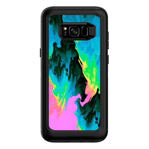 Water Colors Trippy Abstract Pastel Preppy Otterbox Defender Samsung Galaxy S8 Plus Skin