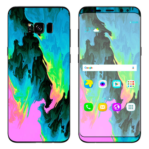 Water Colors Trippy Abstract Pastel Preppy Samsung Galaxy S8 Plus Skin