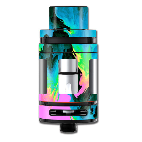 Water Colors Trippy Abstract Pastel Preppy Smok TFV8 Big Baby Beast  Skin