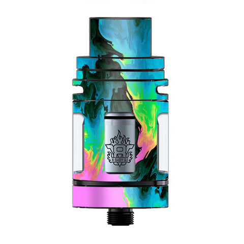 Water Colors Trippy Abstract Pastel Preppy TFV8 X-baby Tank Smok Skin