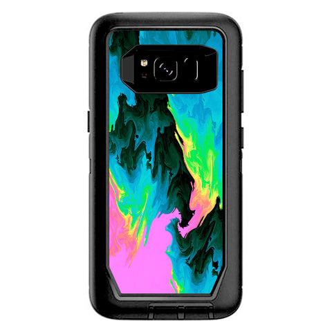 Water Colors Trippy Abstract Pastel Preppy Otterbox Defender Samsung Galaxy S8 Skin