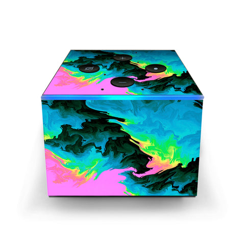 Water Colors Trippy Abstract Pastel Preppy Amazon Fire TV Cube Skin