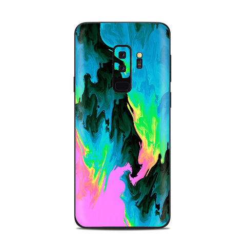 Water Colors Trippy Abstract Pastel Preppy Samsung Galaxy S9 Plus Skin
