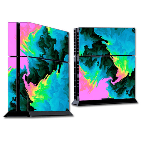 Water Colors Trippy Abstract Pastel Preppy Sony Playstation PS4 Skin