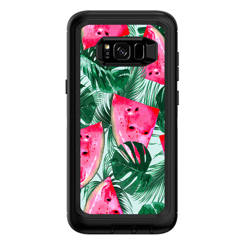Watermelon Pattern Palm Otterbox Defender Samsung Galaxy S8 Plus Skin
