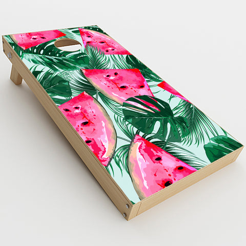 Watermelon Pattern Palm  Cornhole Game Board (2 pcs.) Skin