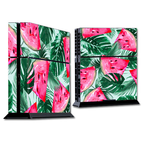 Watermelon Pattern Palm Sony Playstation PS4 Skin