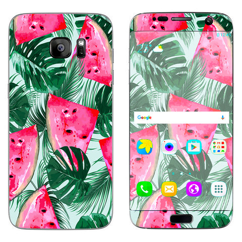 Watermelon Pattern Palm Samsung Galaxy S7 Edge Skin