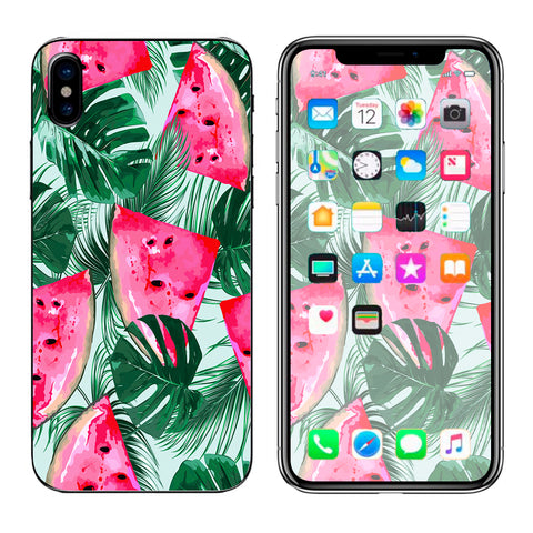 Watermelon Pattern Palm Apple iPhone X Skin