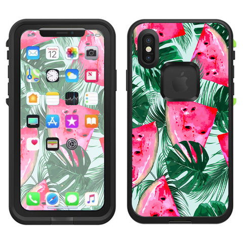 Watermelon Pattern Palm Lifeproof Fre Case iPhone X Skin