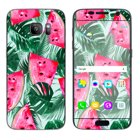 Watermelon Pattern Palm Samsung Galaxy S7 Skin