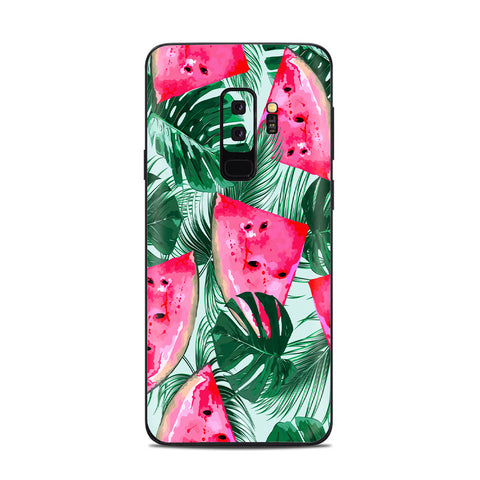 Watermelon Pattern Palm Samsung Galaxy S9 Plus Skin