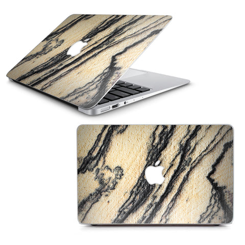 "White Purple Crystals Geode Stone Macbook Air 13"" A1369 A1466 Skin"
