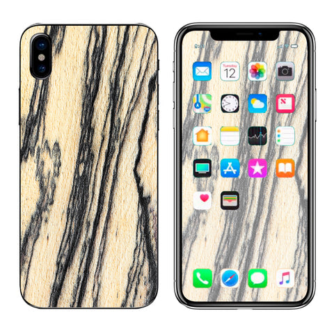 White Purple Crystals Geode Stone Apple iPhone X Skin
