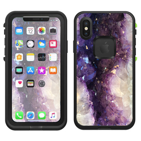 Wood Marble  Lifeproof Fre Case iPhone X Skin