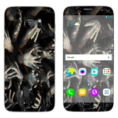 Zombie Hands Dead Trapped Walking Samsung Galaxy S7 Edge Skin