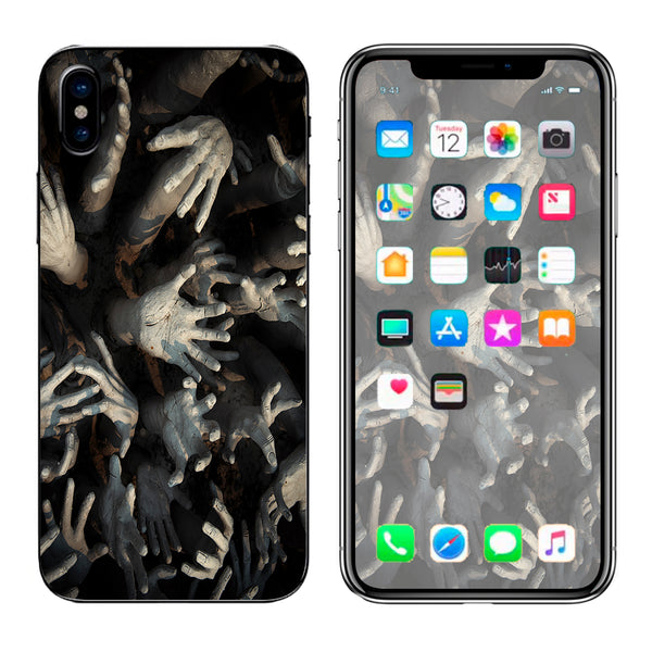 Zombie Hands Dead Trapped Walking Apple iPhone X Skin