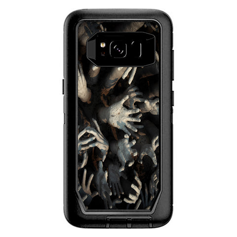 Zombie Hands Dead Trapped Walking Otterbox Defender Samsung Galaxy S8 Skin