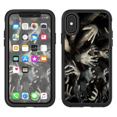 Zombie Hands Dead Trapped Walking Otterbox Defender Apple iPhone X Skin