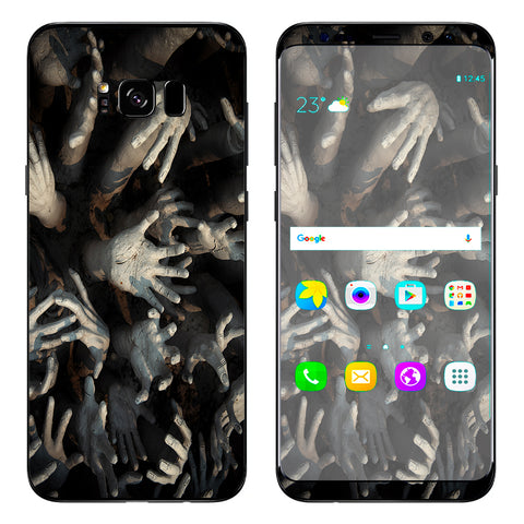 Zombie Hands Dead Trapped Walking Samsung Galaxy S8 Plus Skin