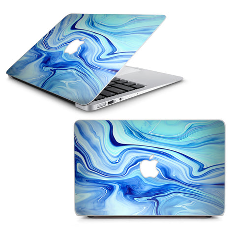 "Blue Marble Rocks Glass Macbook Air 13"" A1369 A1466 Skin"