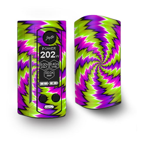 Psychedelic Moving Purple Green Swirls Vaporesso Armour Kit Skin