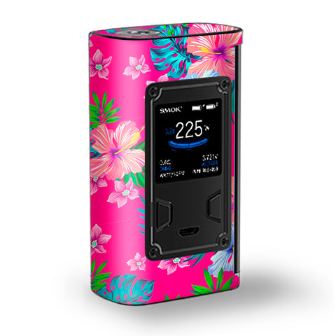 Pink Neon Hibiscus Flowers Majesty Smok Skin