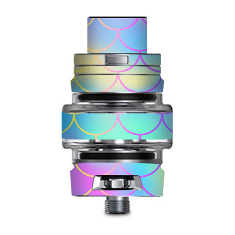 Pastel Colorful Mermaid Scales Smok TFV8 Big Baby V2 Tank Skin
