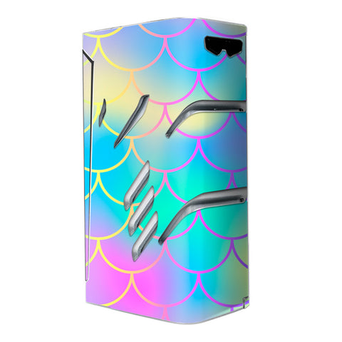 Pastel Colorful Mermaid Scales Smok T-Priv Skin