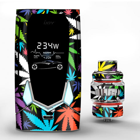 Colorful Weed Leaves Leaf  iJoy Avenger 270 Skin