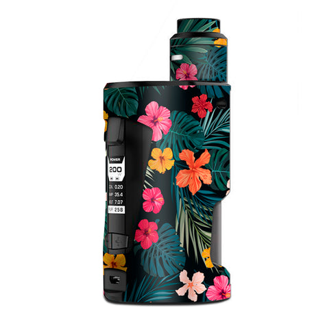Hibiscus Flowers Tropical Hawaii G Box Squonk Geek Vape Skin