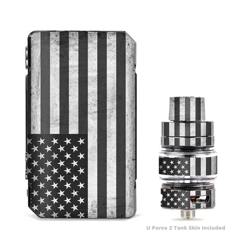 Black White Grunge Flag Usa America VooPoo Drag Mini Skin