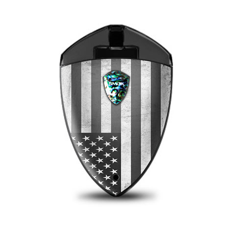 Black White Grunge Flag Usa America Smok Rolo Badge Skin