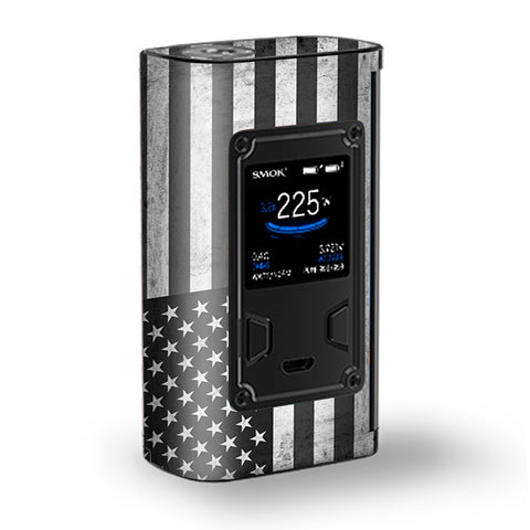 Black White Grunge Flag Usa America Majesty Smok Skin