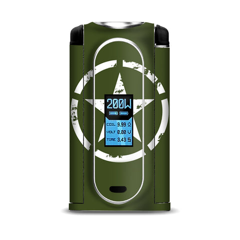 Green Army Star Military VooPoo Vmate Skin
