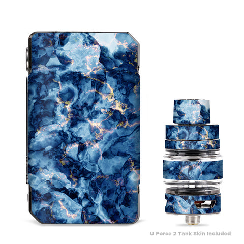 Heavy Blue Gold Marble Granite  VooPoo Drag Mini Skin