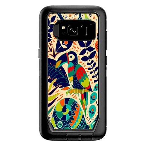 Pop Art Toucan Color Tropical Design Otterbox Defender Samsung Galaxy S8 Skin