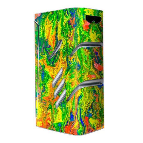 Green Trippy Color Mix Psychedelic Smok T-Priv Skin