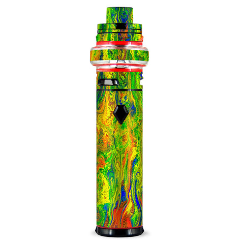 Green Trippy Color Mix Psychedelic Smok stick V9 Max Skin