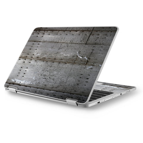 "Old Metal Rivets Panels Asus Chromebook Flip 12.5"" Skin"