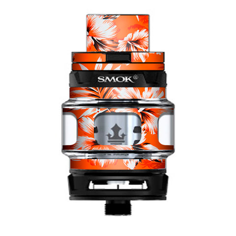 Orange Tropical Hibiscus Flowers Prince TFV12 Tank Smok Skin