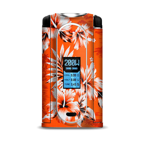 Orange Tropical Hibiscus Flowers VooPoo Vmate Skin
