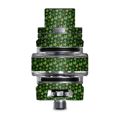 Pot Leaves Small Green Stoner Smok TFV8 Big Baby V2 Tank Skin