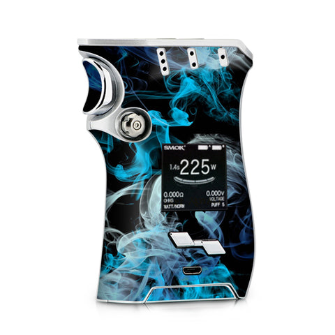 Blue Green White Smoke Smok Mag Skin