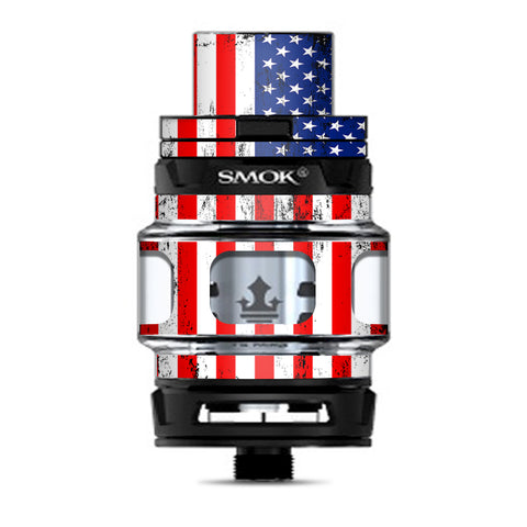 American Flag Distressed Red White Blue Smok Prince Tank Skin