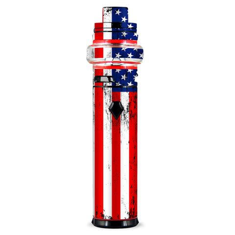 American Flag Distressed Red White Blue Smok stick V9 Max Skin